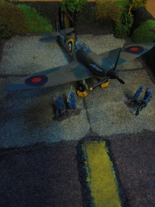 A Spitfire Diorama produced for a Wing Competition.